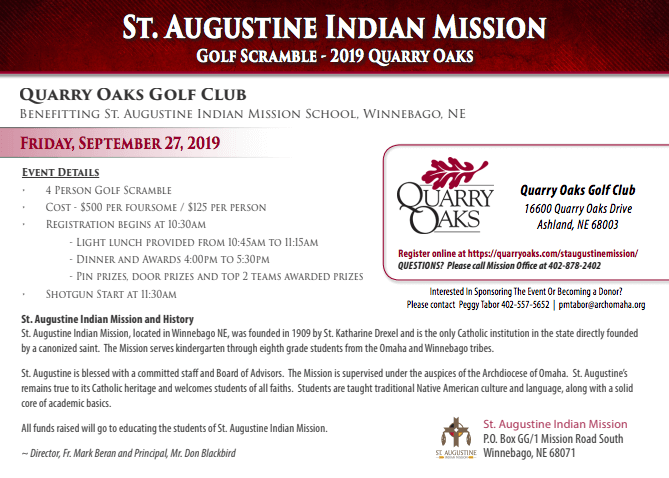 St. Augustine Golf Scramble 2019